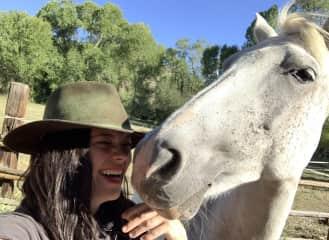 Goofing with Da Vinci in Del Norte, Colorado