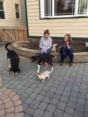 Nancy with Pups and grandpups