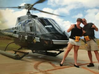 Helicopter ride in Hawaii.