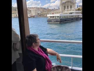 Enjoying a ferry ride on the Bosphorus Istanbul, Turkey