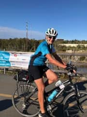 Dorothy. Ride For Cancer 100 Km ride.