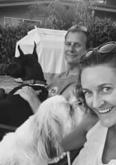 Enjoying some puppy love in Oahu