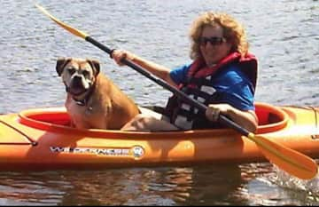 """Rocky """"Little Man"""" Stewart. His last time at the lake, 2014. Best dog ever!"""