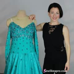 I run an online sewing school teaching folks how to make competition ballroom, country and skate costumes. I spend a lot of time in front of the camera and sitting at my laptop.
