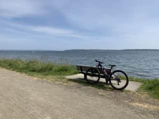 I love biking and beautiful views.