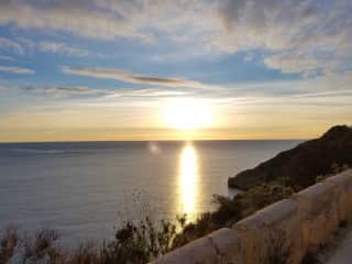 Morning lighthouse walk in Albir, Spain