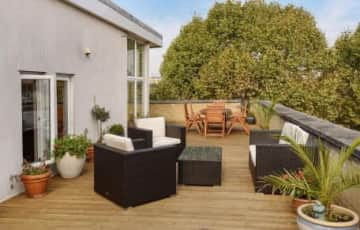 Private roof terrace  from the living room