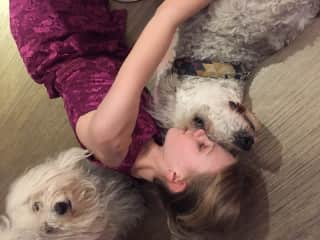 Daughter with viva and bailey
