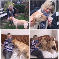Julie with Rosie and Poppy