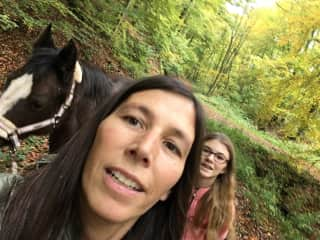 Me, my daughter Charlotte and our horse Winnie