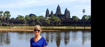 Me traveling in Cambodia