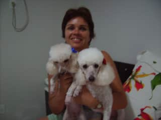 Dulce, and our dogs Sacha and Miucha.