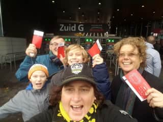 Our first Ajax game, Amsterdam Stadium, 2016