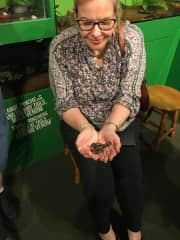 This is me at an insect zoo in Victoria BC recently holding a scorpion.