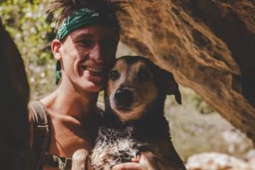 Nico + Dobi on an adventure hike