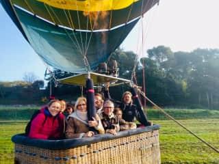 First hot air balloon flight!