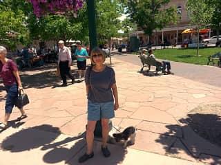 Cheri and Baxter in Santa Fe, NM