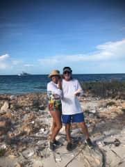 Bill and Tracy in Bimini