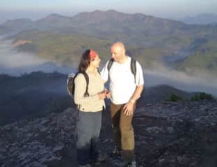 Jeff and Sylvie hiking in India