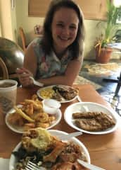 Eating southern food - I'm an adventurous eater and love to try new things when I travel