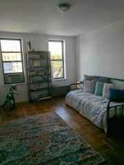 Sitters room (now with curtains and a/c)