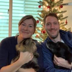 Sarah, Scott, Meg, and Mucha