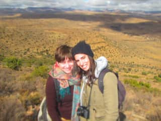With my daughter Iris in a game reserve