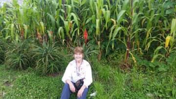 My Facebook profile picture in front of a cornfield near Cuenca, Ecuador.