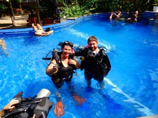 Diving Course (1st part in the pool) in Koh Tao, Thailand