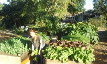 Kyle in the garden.