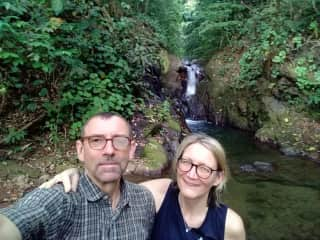 Exploring waterfalls and swim holes with my beloved wife.