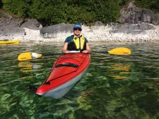 Tim and I enjoy kayaking