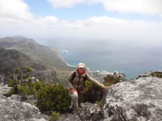 A long way up! Table Mountain in South Africa