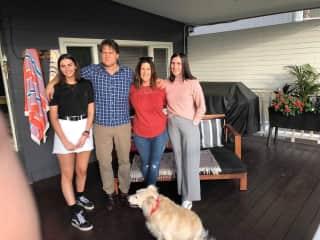 Family photo with our dog Gigi