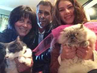 Katniss, Barbie, John, Samantha, & Lola.