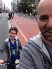 Rafael and Rogério... bike riding on the weekend.