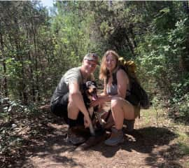 My son and daughter-in-law and their dog Finn