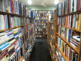 One of the rooms inside the Bookshop.