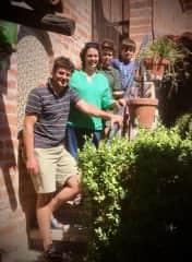 Rick, Danella, Thomas (11) and James (9)