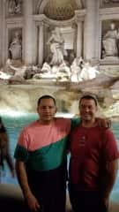 Sal and Joe in Rome (Trevi Fountain)