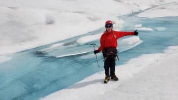 Wandering around on a glacier in Alaska!