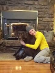Natalie and Garin surviving the winter by the warm fire