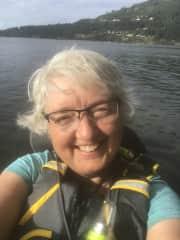 Enjoying sea kayaking near my home