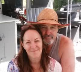 Chris and I on holiday