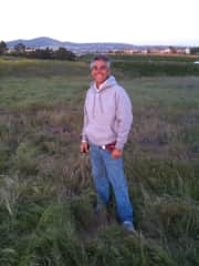 In a field after a hot air balloon ride (I have gone skydiving twice).