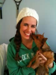 This is me (Sarah)  with our first born, Tallulah :)