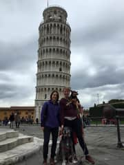 Exploring Pisa with Biggie and Roxie -- if we can travel with pets, it's our first choice!