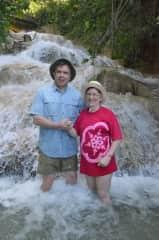 Iain & Shauna,  Dunn's River Falls, Jamaica