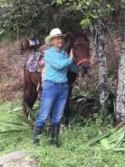 Horseback riding in Vilcabamba.