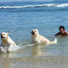 At the beach with Jess and chloe